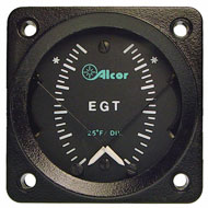 "EGT/EGT Type K Dual Meter w/ Light, 2-1/4"" 46188-3"